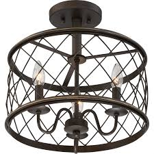 Quoizel Flush Mount Ceiling Light Quoizel Rdy1714pn Semi Flush 3lgt Palladian Bronze