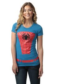 womens belted spider man costume tshirt