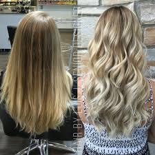 dirty blonde base and frosty blonde balayage by luis jimenez