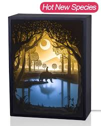 amazon com papercut light boxes 3d shadow box led light night