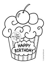 birthday party colouring pages funycoloring