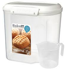 Storage Containers For Flour Amazon Com Sistema Bake It Food Storage For Baking Ingredients