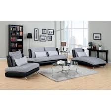 furniture of america modern two tone gray u0026 black low profile sofa