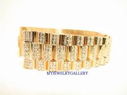 diamond rolex rolex aftermarket 18k yg diamond bracelet band for mens president