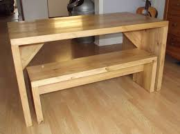 lovely oak kitchen table with bench khetkrong