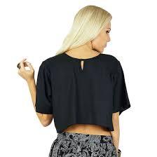 rayon blouse bimba black baggy crop top rayon casual blouse ebay