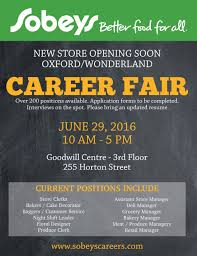 sobeys career fair at goodwill goodwill industries