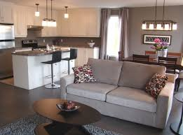 open concept living dining kitchen aire ouverte salon salle a