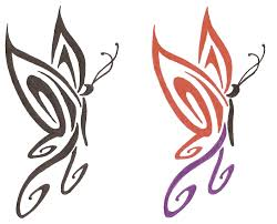 butterfly tribal designs free download clip art free clip art