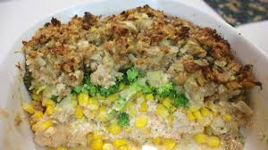 stuffing casserole recipe thanksgiving easy chicken and stuffing casserole simple one dish dinner recipe