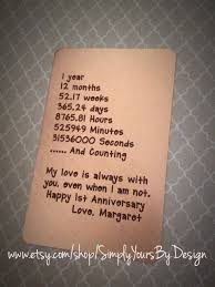 1st anniversary gifts for husband copper wallet card insert engraved wallet card 1st anniversary