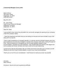 awesome collection of example of community manager cover letter