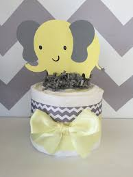 elephant baby shower centerpieces mini elephant theme baby shower cake in gray and yellow
