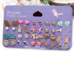 sensitive earrings 20 pairs sensitive solutions earrings uber tiny online store