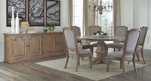 Round Dining Room Table And Chairs Florence Round Dining Room Set W Vintage Chairs Casual Dining