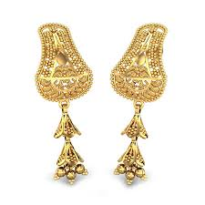 gold ear ring image yellow gold 22k gold earring candere