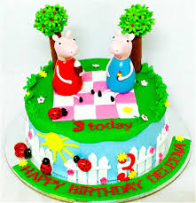 peppa pig cakes miras online peppa pig theme birthday cakes for kids i order online