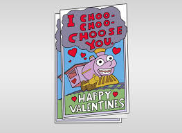 simpsons valentines day card printable s card from the simpsons i choo choo choose