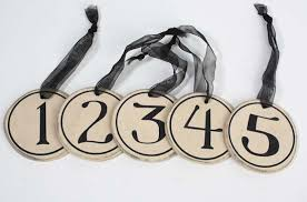 wooden number ornaments tags basic craft supplies
