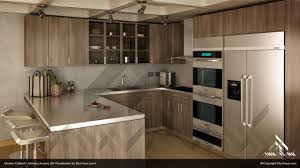 3d kitchen layout design with description kitchen with fridge on