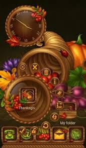 free tsf smart next go adw launcher thanksgiving theme