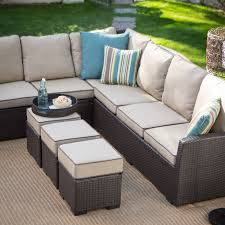 Patio Wicker by Belham Living Monticello All Weather Outdoor Wicker Sofa Sectional