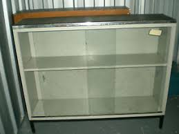 display cabinet glass sliding doors original 50 s 60 s metal display cabinet sideboard with glass