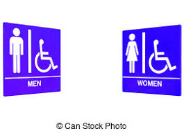Mens And Womens Bathroom Signs Stock Photos Of Restroom Sign Symbol For Men And Women Signpost