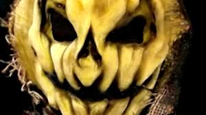 albino corn harvester scarecrow burlap and latex halloween mask