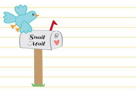snail mail letter writing stationery set printable for lwa
