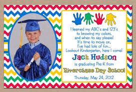 Graduation Invitation Cards Designs Preschool Graduation Invitations Kawaiitheo Com