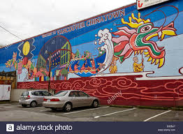 chinatown mural stock photos chinatown mural stock images alamy welcome to vancouver chinatown wall mural vancouver bc canada stock image