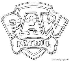 paw patrol logo coloring pages printable