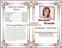 funeral service program template word memorial service programs