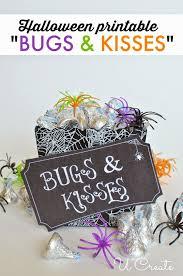 halloween printable bugs kisses create