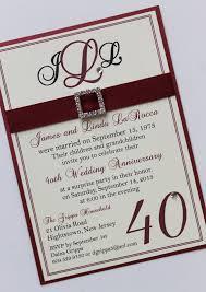 40th anniversary invitations 40th wedding anniversary invitations mes specialist