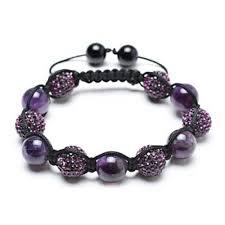 bead bracelet crystal images Bracelet shamballa inspired purple crystal bead amethyst stones jpg