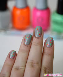 nail designs with neon colors