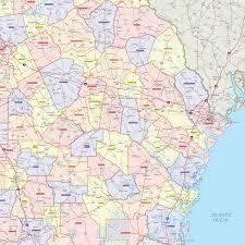 Atlanta County Map Georgia County Wall Map Maps Com