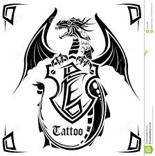 black dragon a tattoo royalty free stock photography image 16852457