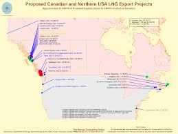Northern Canada Map by Canadian Lng West Coast Overview