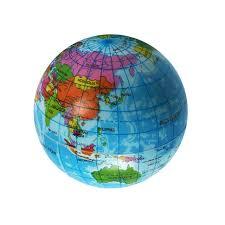 mini foam world globe teach education earth atlas geography map