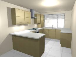 u shaped kitchen with island floor plan wood floors