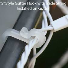 icicle and mini light accessories gutter hooks 100 pack