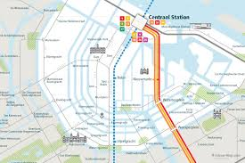 Amsterdam Metro Map by Urban Map Amsterdam Rail Map