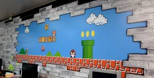 funky wall murals for the office