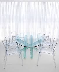bright acrylic chair vogue other metro contemporary dining room