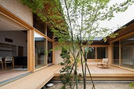 courtyard home hiiragi s house is a japanese home arranged around a courtyard and tree