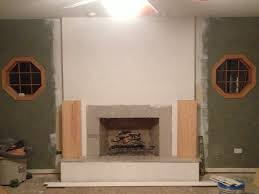 step 3 we covered the raised hearth with tile fireproof material