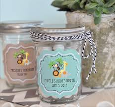 jungle baby shower favors these jungle baby shower favor jars with a zoo animal theme